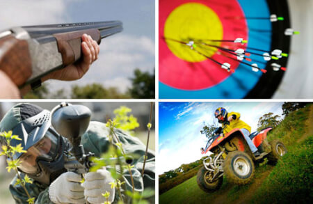 Paintball, Clays, Quads & Archery Bournemouth for your maximise stag party
