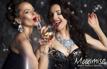 Party Area and Drinks  for my Reading(Maximise) Hen Party | Maximise Hen Weekends