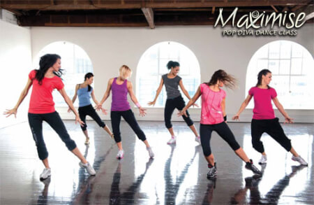 Pop Diva Dance Class in Swansea for your hen party with hen maximise
