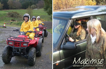 Quads & Blindfold Driving In York for hen party with hen maximise
