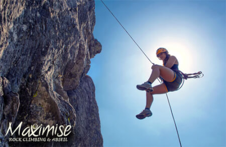 Rock Climbing & Abseiling in Swansea for your hen party with hen maximise