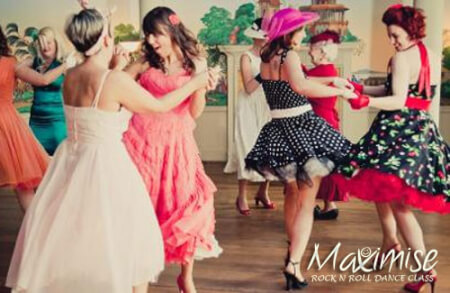 Rock n Roll Hen Dance Experience in York for your hen party with hen maximise