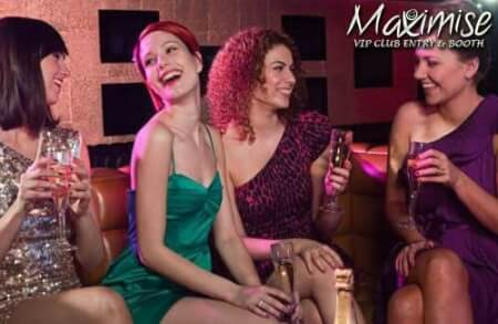 VIP Nightclub Entry & Reserved Booth for my Edinburgh(Maximise) Hen Party | Maximise Hen Weekends